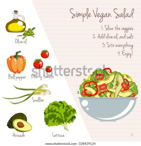 simple vegan salad recipe