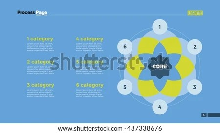 6 circle writable venn diagram example ostrich skeleton six slide template stock vector royalty free
