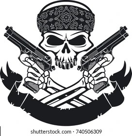 skull gun tattoo images