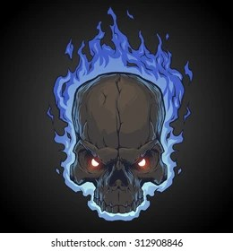 flaming skull images stock