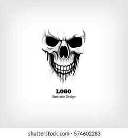 skull logo images stock