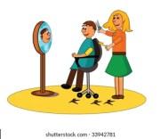 cartoon hairdresser stock
