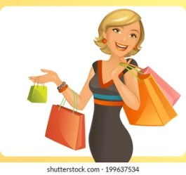 Cartoon Lady Shopping Images Stock Photos & Vectors Shutterstock