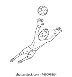 Similar Images Stock Photos & Vectors of Football soccer player kicking the ball illustration logo ink black and white outline isolated on a white 372379261 Shutterstock