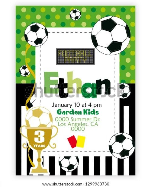 https www shutterstock com image vector soccer vectorial birthday invitation vector illustration 1299960730