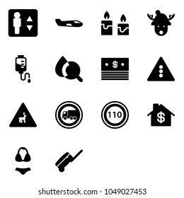 Set Of Packaging Symbols (this side up, handle with care