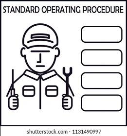 Standard Operating Procedures Stock Vectors, Images