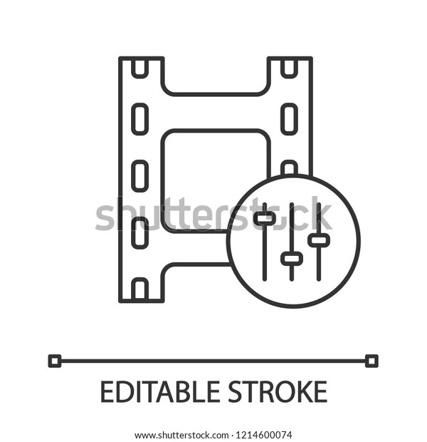 Sound Mixer Linear Icon Audio Equalizer Stock Vector