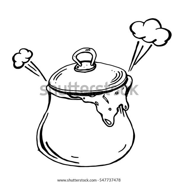 Soup Pot Vector Illustration Pot Porridge Stock Vector