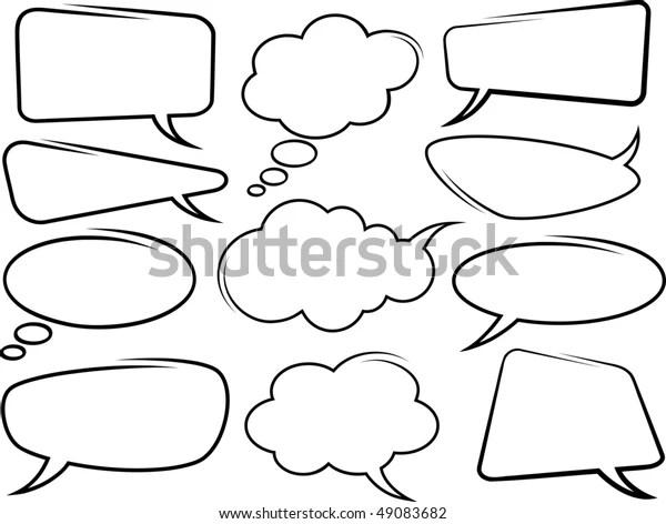 Speech Bubbles Stock Vector (Royalty Free) 49083682
