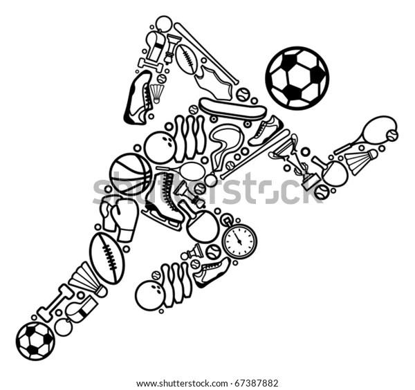 Sports Symbol Stock Vector (Royalty Free) 67387882