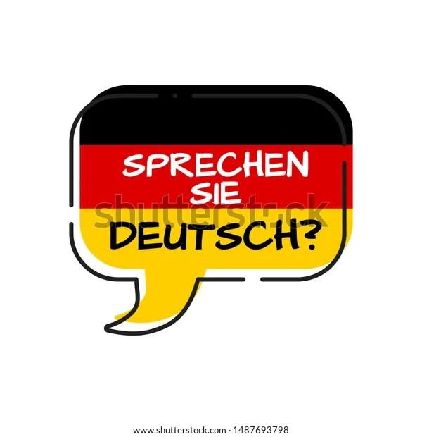 Vector de stock (libre de regalías) sobre Sprechen Sie Deutsch Do You Speak1487693798