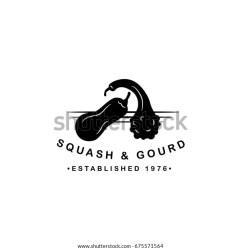 gourd silhouette squash vector farm restaurant shutterstock clip organics seed eps