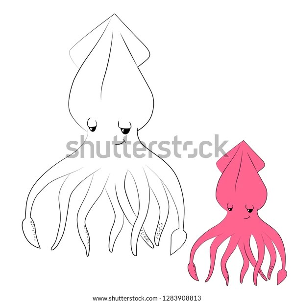 squid coloring pictures # 26