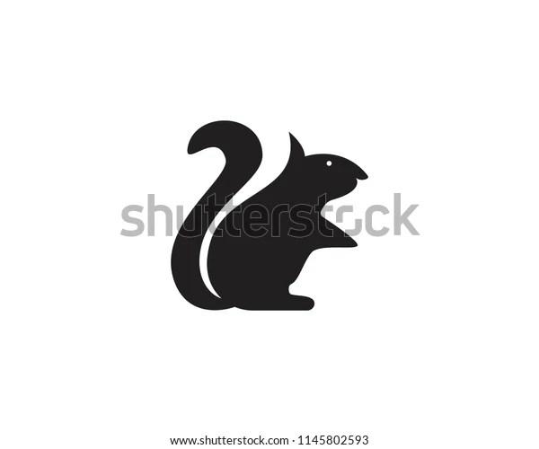 squirrel animals logo symbols