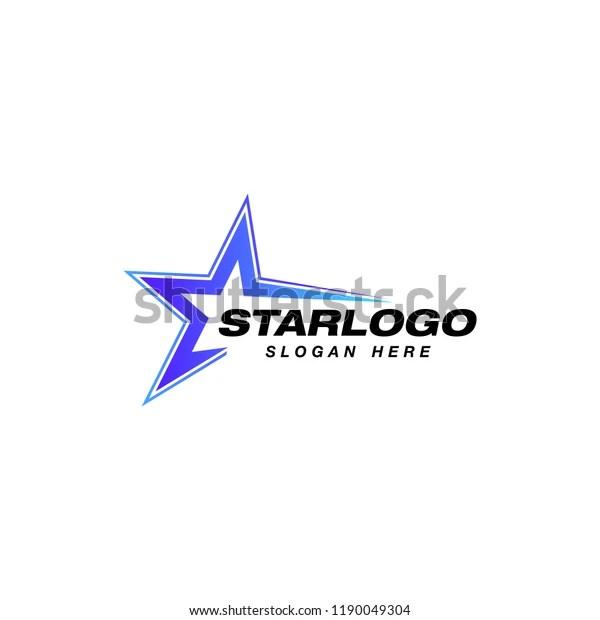 Star Logo Design Stock Template Star Stock Vector (Royalty