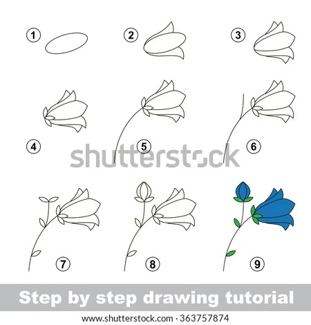 Step By Step Drawing Tutorial Vector Stock Vector (Royalty