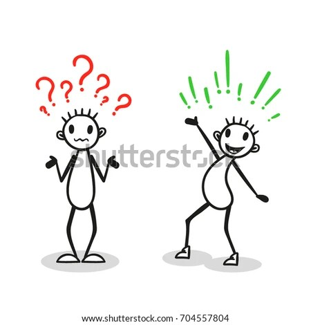 Stick Figure Answer Question Vector Stock Vector (Royalty