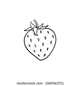 outline strawberry images stock