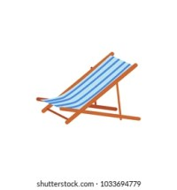 Beach Chair Cartoon Images, Stock Photos & Vectors