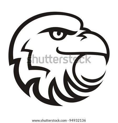 Stylized Eagle On White Background Stock Vector (Royalty