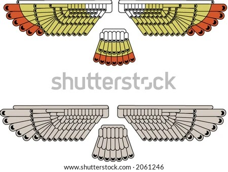 eagle wing diagram performance improvement cycle stylized wings stock vector royalty free 2061246 shutterstock