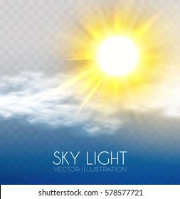 https www shutterstock com image vector sun clouds sky forecast background cool 578577721