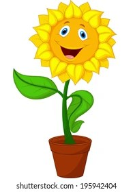 Sunflower Cartoon Drawing : sunflower, cartoon, drawing, Sunflower, Cartoon, Stock, Images, Shutterstock