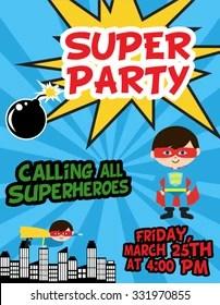 https www shutterstock com image vector superhero party 331970855
