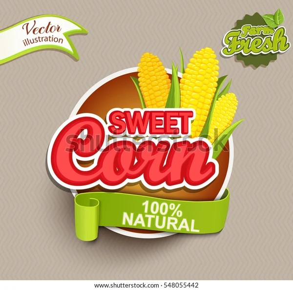 Sweet Corn Logo Lettering Typography Food Stock Vector (Royalty Free) 548055442