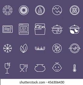 https www shutterstock com image vector symbols food grade metal indicate properties 456306430