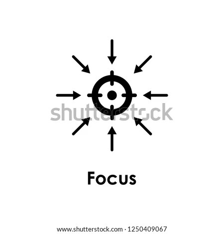 Target Arrow Focus Icon One Business Stock Vector (Royalty