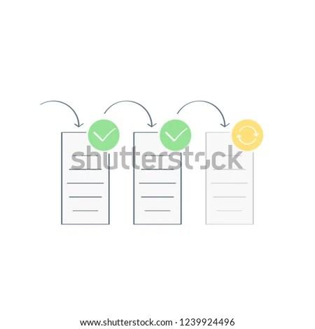 Task Flow Workflow Diagram Project Management Stock Vector