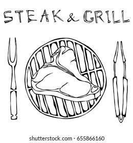 t-bone steak illustration Images, Stock Photos & Vectors