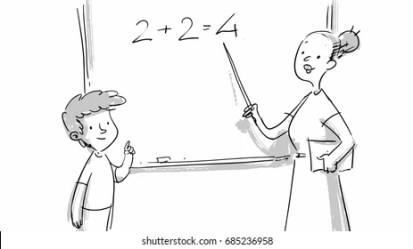 Teacher Sketch Images Stock Photos & Vectors Shutterstock