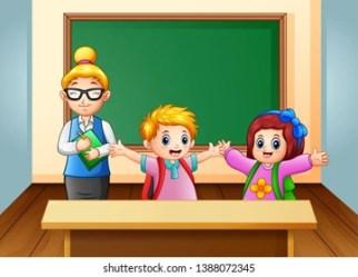 Cartoon Teacher and Girl Student Stock Illustrations Images & Vectors Shutterstock