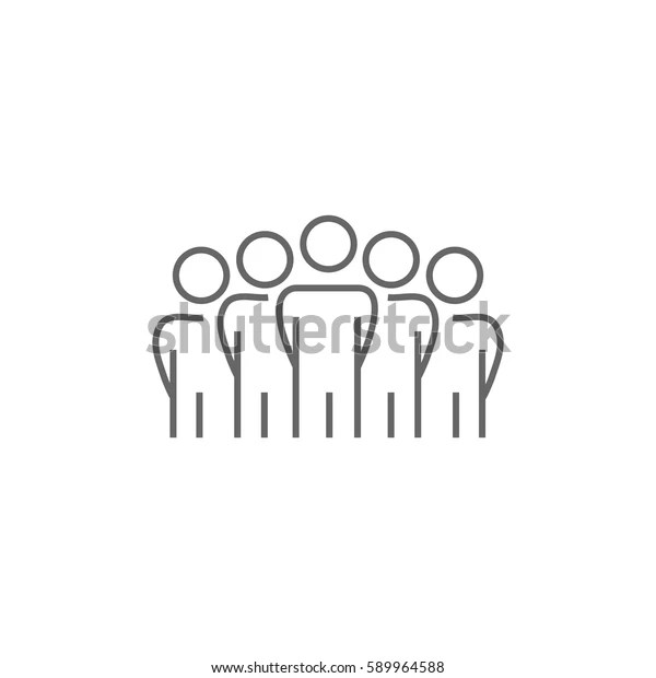 Team Icon Vector Flat Stock Vector (Royalty Free) 589964588