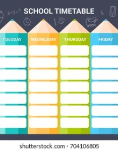 Template school timetable illustration includes hand drawn elements of supplies also images stock photos  vectors shutterstock rh