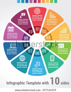 Ten sides infographic template  vector chart with options used for web banners also stock royalty rh shutterstock