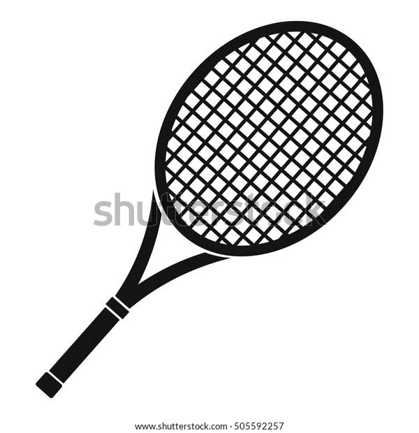 Tennis Racket Icon Simple Illustration Tennis Stock Vector