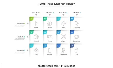 matrix chart images stock