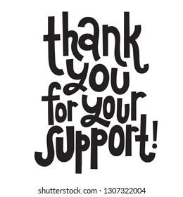 Thanks for Your Support Images, Stock Photos & Vectors