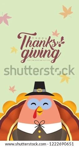 thanksgiving template smartphone wallpaper