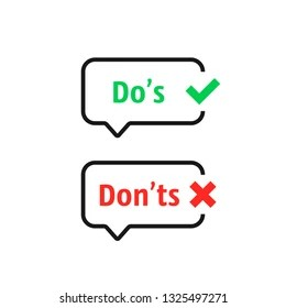 Do and Don'ts Icons Images, Stock Photos & Vectors