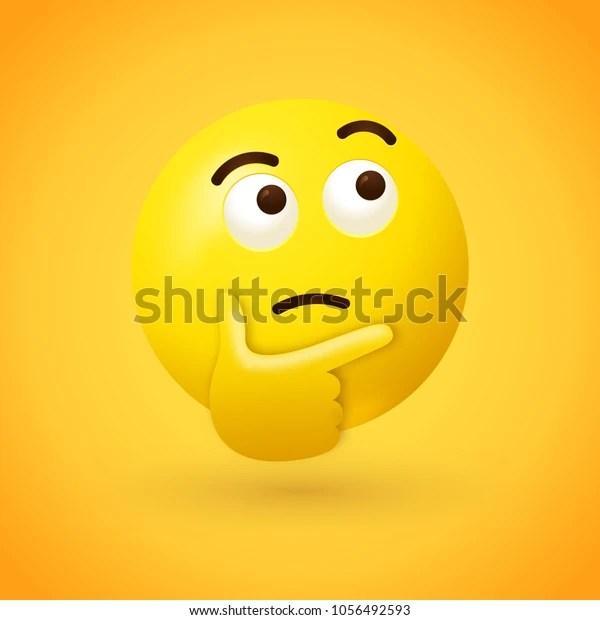 thinking face emoji emoticon