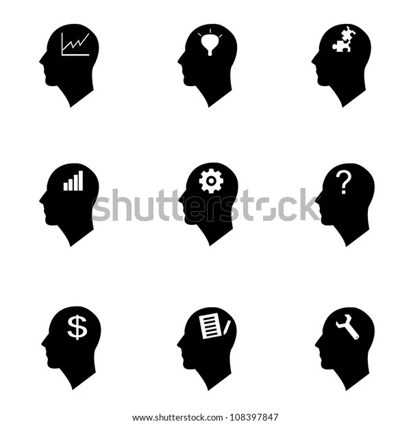 Thinking Symbol Knowledge Management Stock Vector (Royalty
