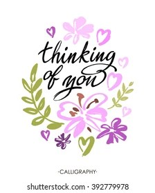 Thinking Of You Clipart : thinking, clipart, Thinking, Flowers, Stock, Images, Shutterstock