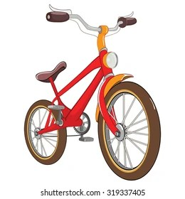 bike cartoon images stock