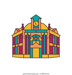 Town Hall Icon Cartoon Town Hall Stock Vector Royalty Free 1138941314