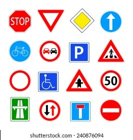 traffic sign images stock